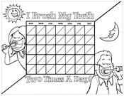 Brushing Chart Kids Black