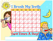 Brushing Chart Kids Color
